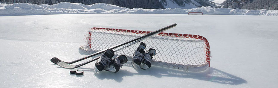 Hokejová branka a vybavení